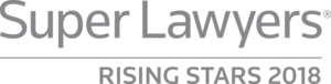 SuperLawyers rising star 2018 award