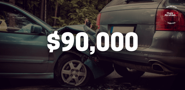 Attorney James Theisen settled a case for $90,000 for rear-end accident.