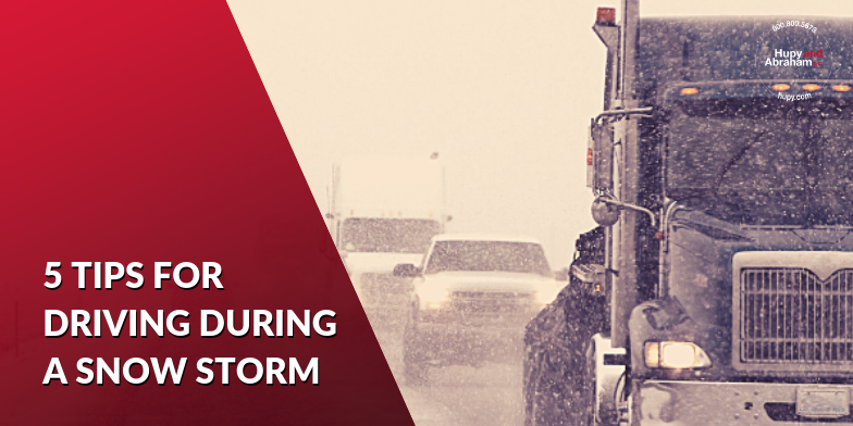 5 tips from our car accident attorneys for driving safe in winter storms.