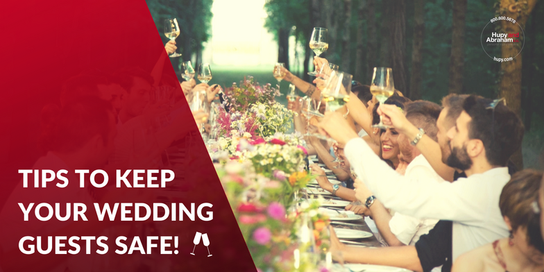 a few tips and suggestions of what you can do to minimize the possibility of guests getting behind the wheel intoxicated after your reception.