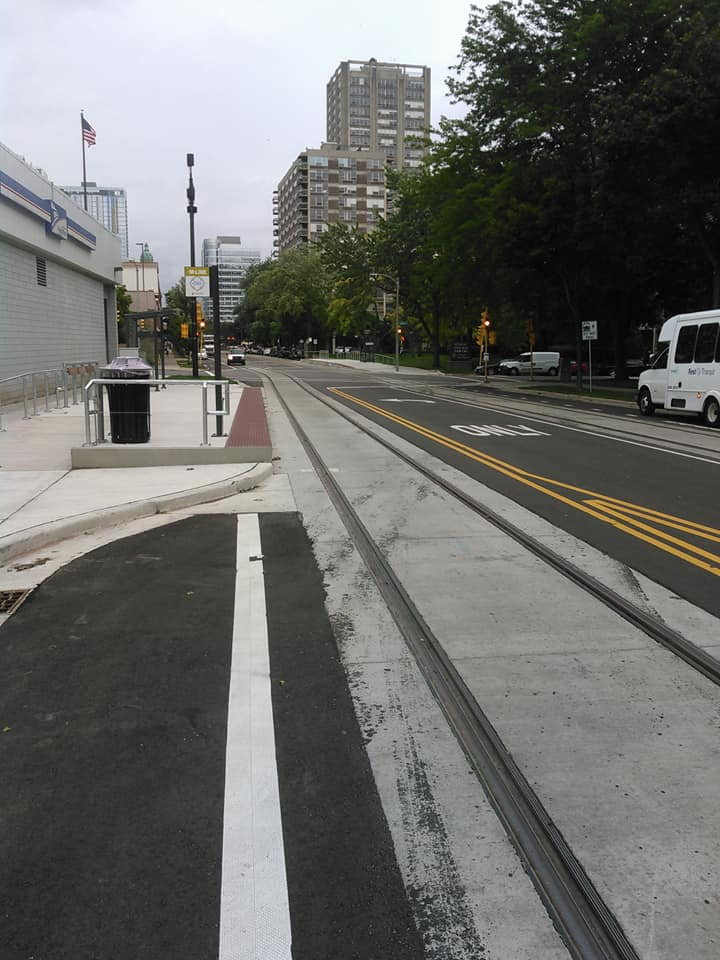 section of track unable to cross at 90 degree angle on bike