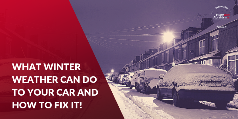 Cars sitting outside during winter. Make sure you car is ready and safe to drive in the winter.