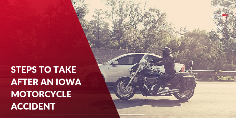 Man on Motorcycle Trying to Avoid a Wreck on an Iowa Road