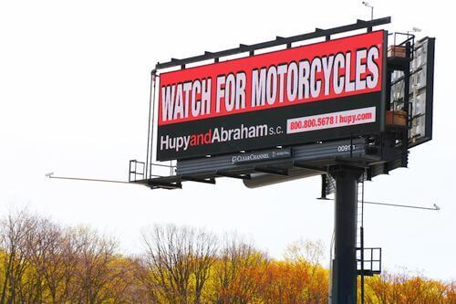 Hupy awareness billboard