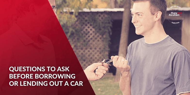 Handing over keys for borrowed car