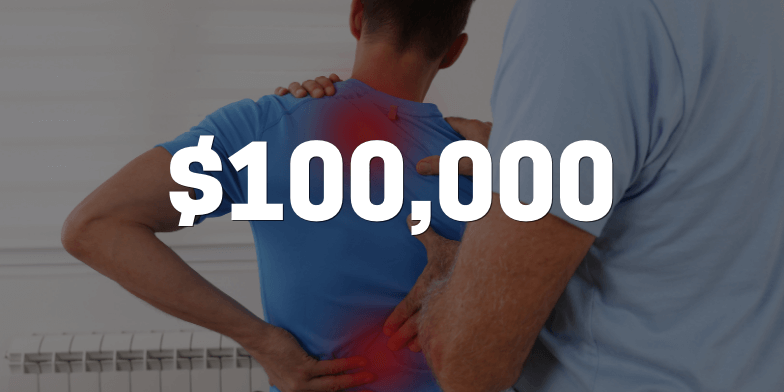 $100,000 For Client Debilitated by Permanent Pain