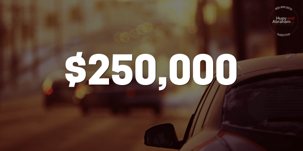 Our client's case was settled for $250,000 from a severe highway accident.