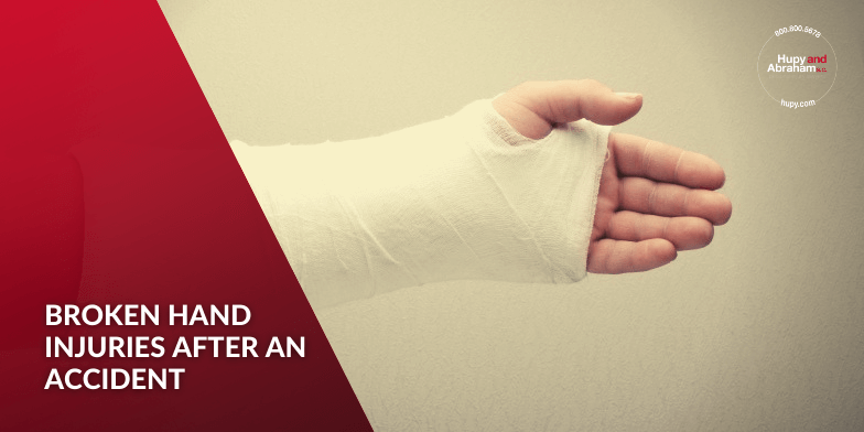 Broken hand injuries after an accident