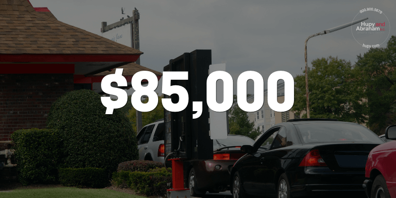 Drive Through Accident Results in $85,000