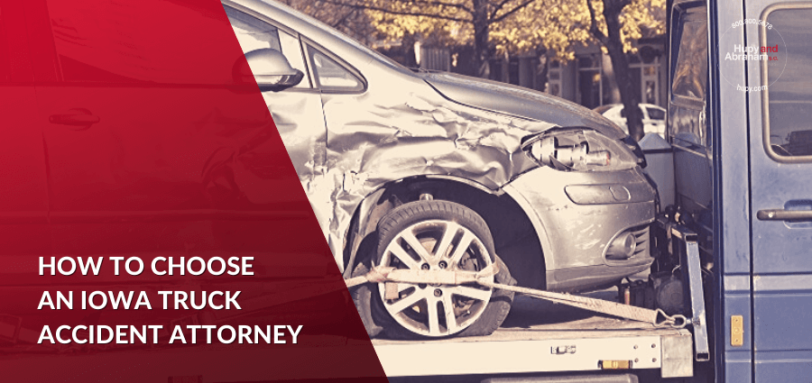 Hiring a truck accident lawyer.