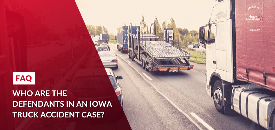Who are the defendants in an Iowa truck accident case?