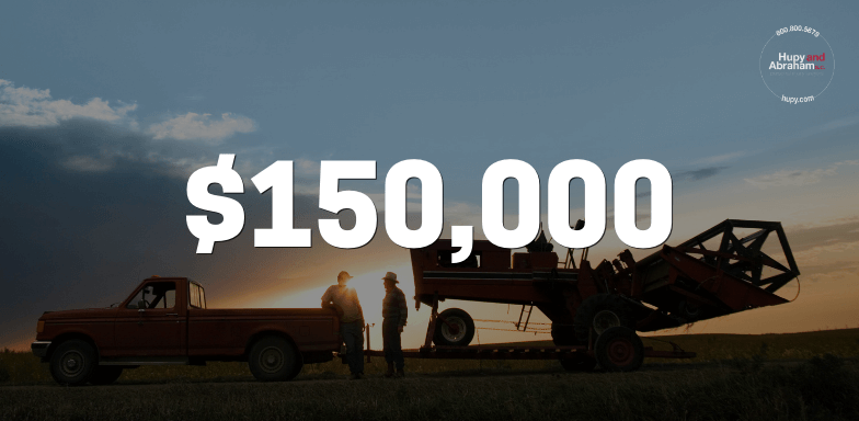 $150,000 for Client After Poorly Lit Farm Equipment Caused Accident