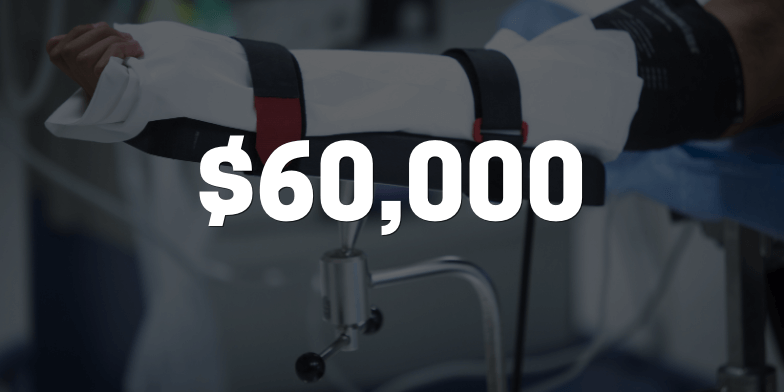 $60,000 compensated for head-on collision
