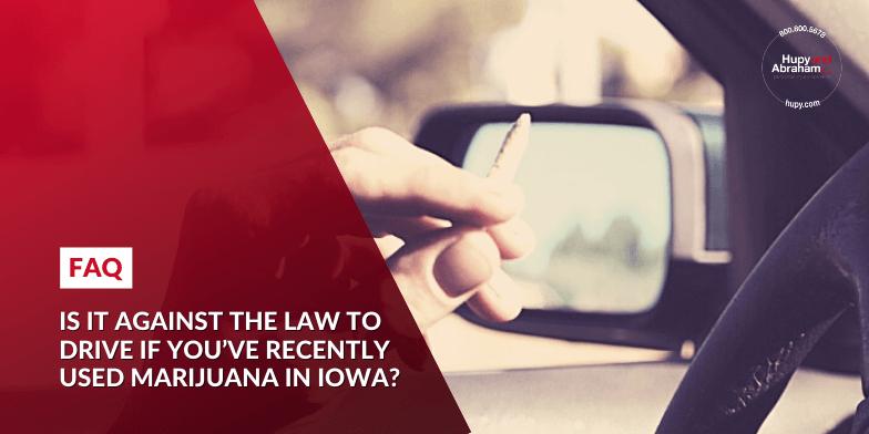 Driver Driving a Car While Using Marijuana