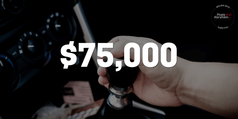 Negligent Driving Accident Results In A $75,000 Settlement