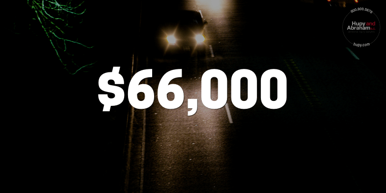 Client Struck By Driver With No Headlights Results In $66,000