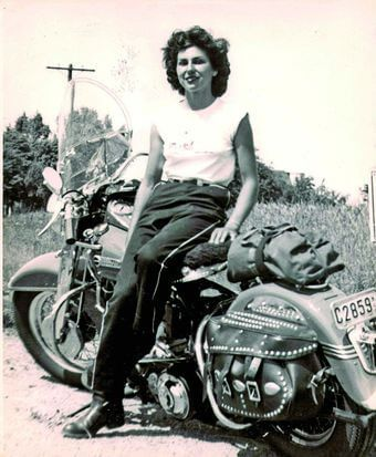 Gloria Struck, early member of Motor Maids
