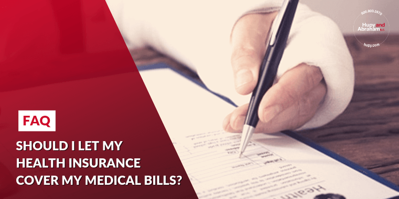 Injured Person Filling Out Health Insurance Paperwork