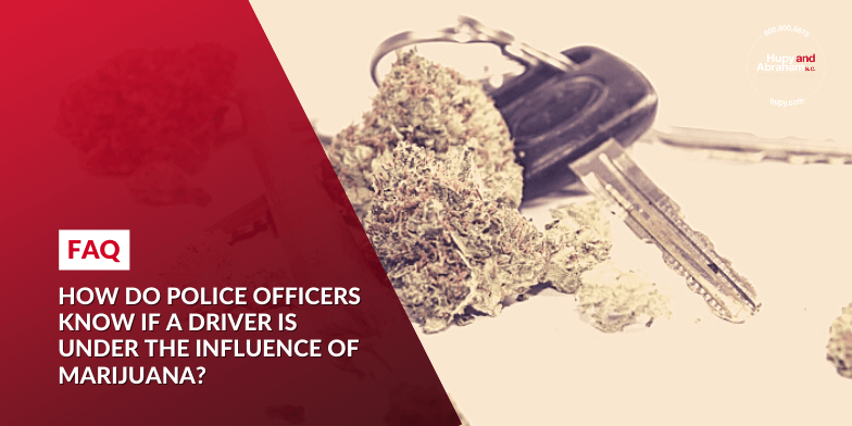 How do police officers know if a driver is under the influence of marijuana?