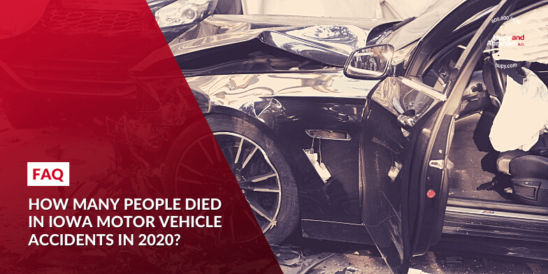 How many people died in Iowa motor vehicle accidents in 2020?