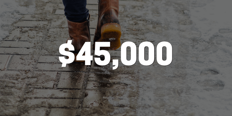 $45,000 After Unmaintained Property Resulted in Fall