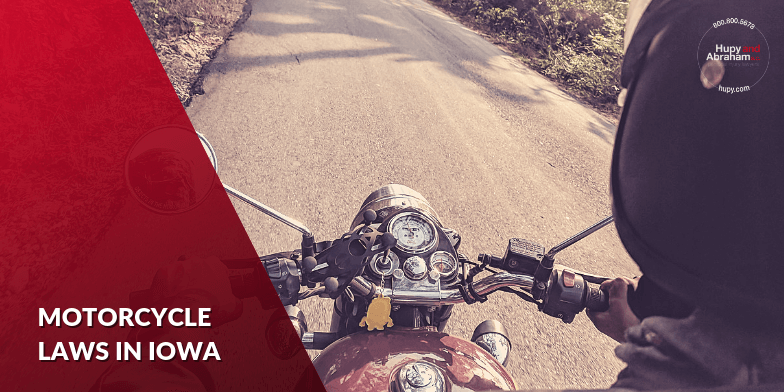 Iowa has traffic laws that apply specifically to motorcycle riders.