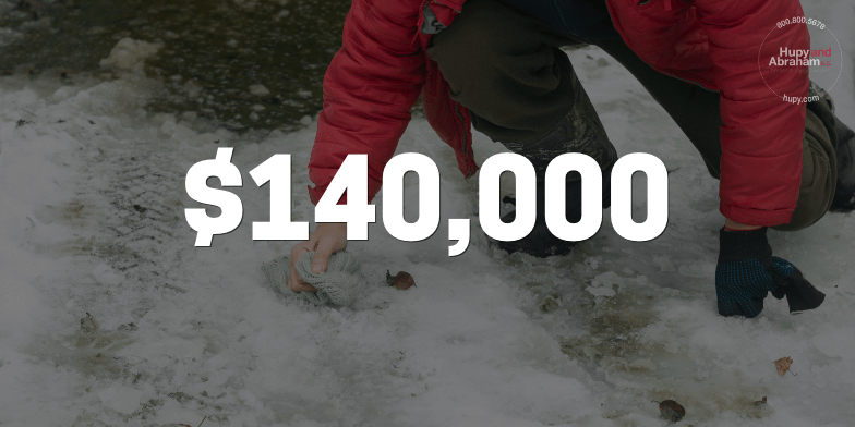 Client compensated for a total of $140,000 for slip and fall accident.