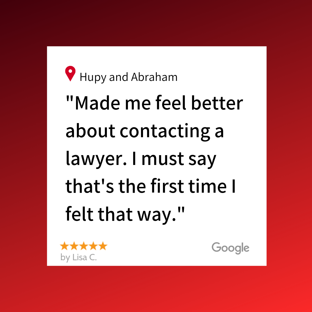 """""""Made me feel better about contacting a lawyer. I must say that's the first time I felt that way."""" A 5 star review."""