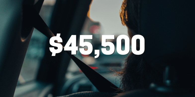 $45,500 for Client Hit By Red Light Runner