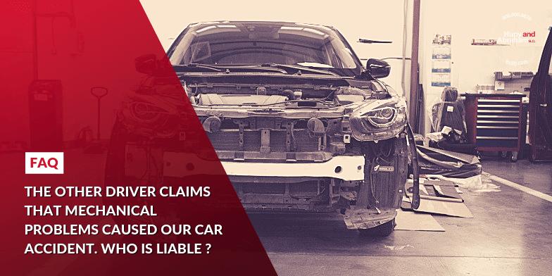 Wrecked Car in a Car Repair Shop After a Mechanical Failure