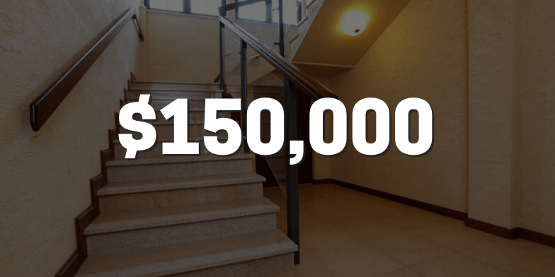 $150,000 for Fall at Apartment Complex