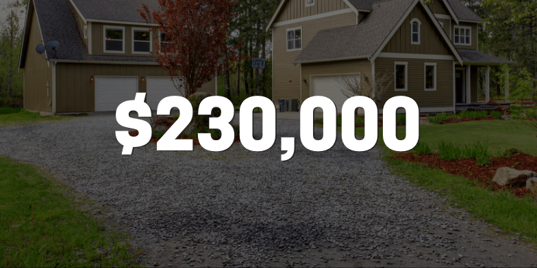 $230,000 for Fall in Driveway