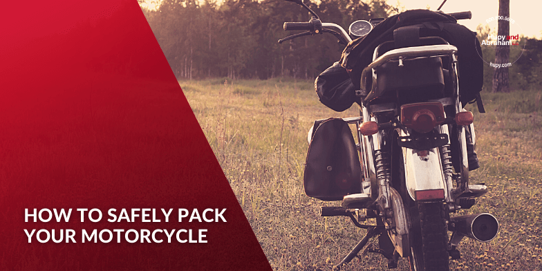 how to properly pack luggage onto your motorcycle.