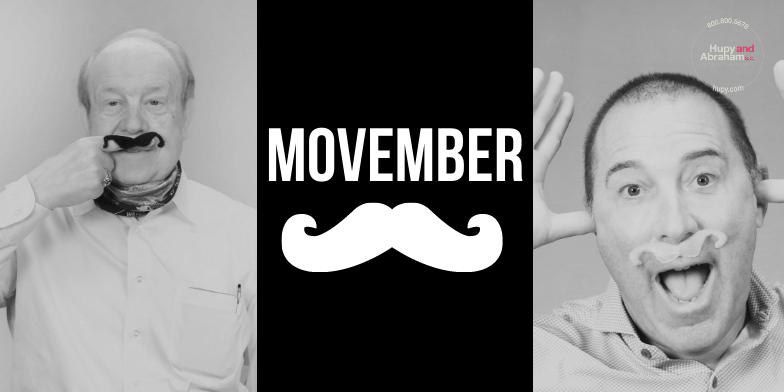 Hupy and Abraham Celebrate Movember
