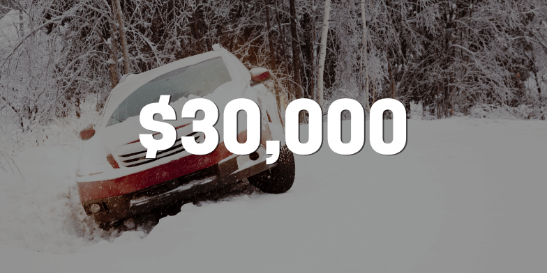 $30,000 for Client Hit By Two Cars While Stuck In A Ditch