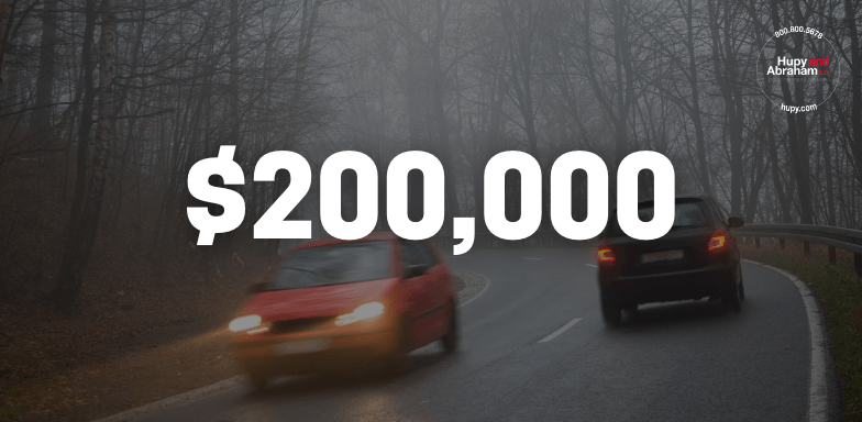 $200,000 Offered To Settle Oncoming Car Accident