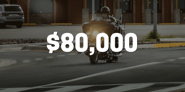 Motorcyclist Receives $80,000 Settlement Without Trial