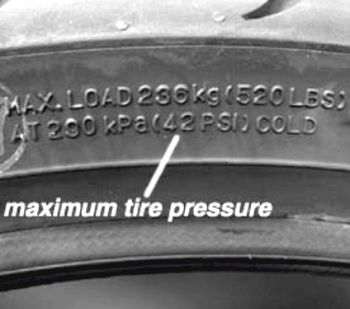 Proper tire inflation is important for safety.