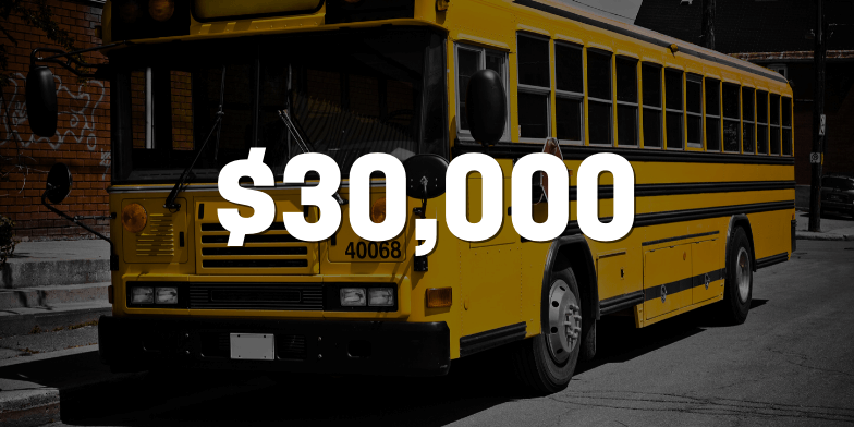 $30,000 For Woman Rear-Ended By School Bus