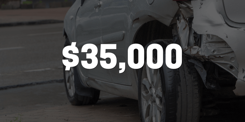 $35,000 Compensated for Rear-end Accident