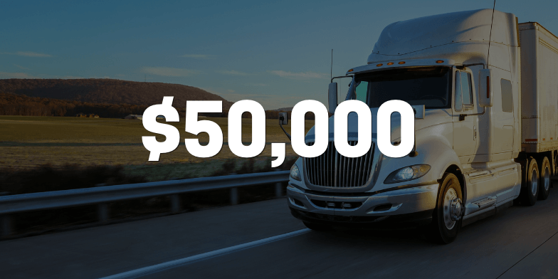 $50,000 to Settle Case for Client Injured in Truck Accident