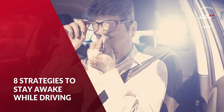 8 strategies to stay awake while driving.