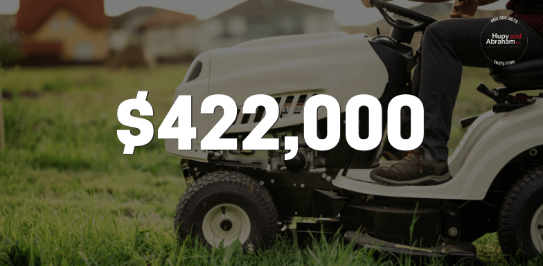 $422,000 to Rider Who Collided With Lawn Mower