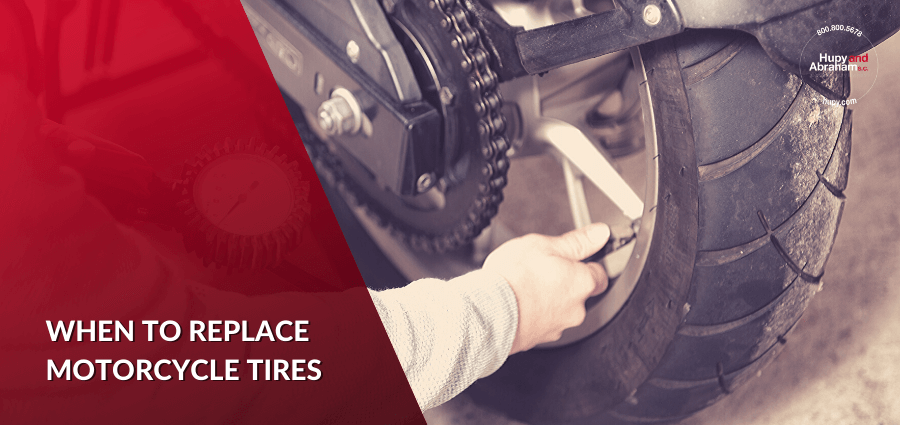 When should you replace motorcycle tires