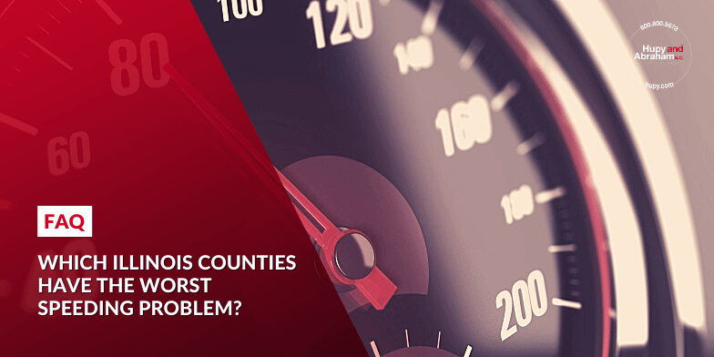 Which Illinois counties have the worst speeding problem?