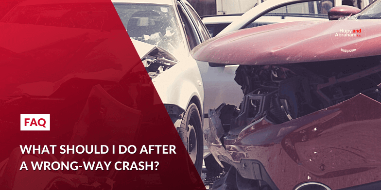 What should I do after a wrong-way crash?