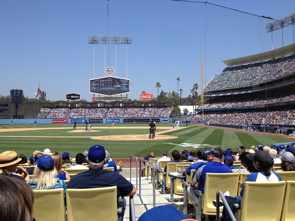 Netting extended for safety purposes at Dodger Stadium