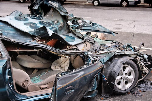Auto accident caused by negligence resulting in a wrongful death lawsuit