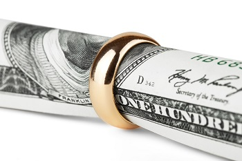 Alimony Payment with wedding ring