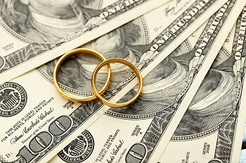 Divorce money and wedding rings